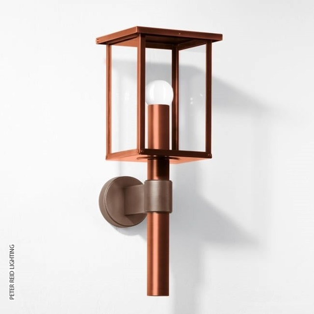 Copper Wall Sconces Outdoor : BOOM B 1228 Copper/Bronze Wall Lantern LED - Contemporary - Outdoor Wall Lights And Sconces ...