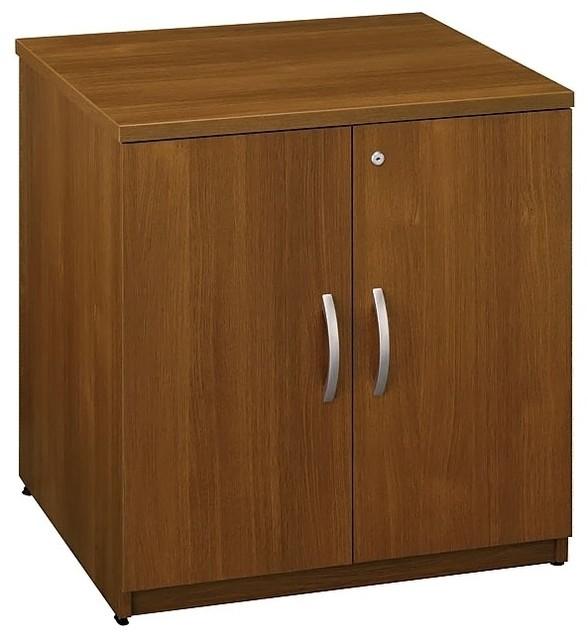 Locking Storage Cabinet in Warm Oak - Series ...