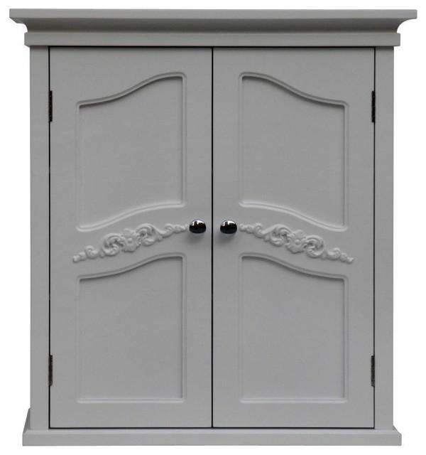 versailles 2 door wall cabinet traditional bathroom