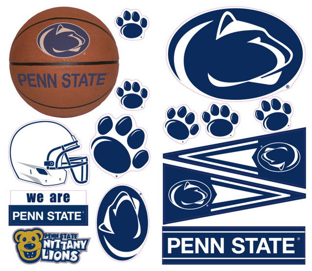 Penn state nittany lions 26pc college wall accent stickers for Penn state decorations home