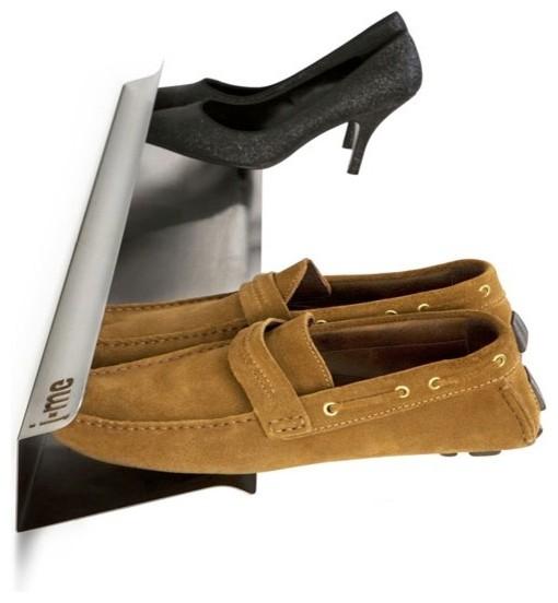 Horizontal Wall-Mounted Steel Shoe Rack, Large - Modern - Shoe Storage ...