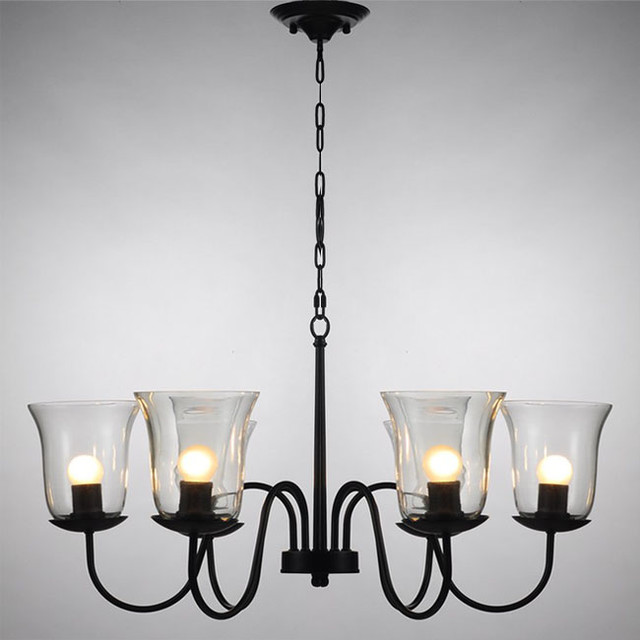 Light Chandelier With Umber Glass Shades ...