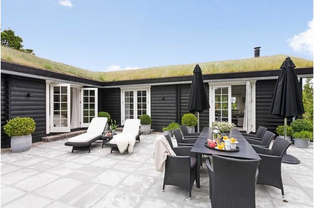 Boligstyling af sommerhus i hornbæk   skandinavisk   terrasse ...