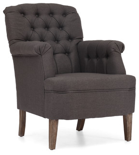 Castro Armchair Charcoal Gray - Traditional - Armchairs ...