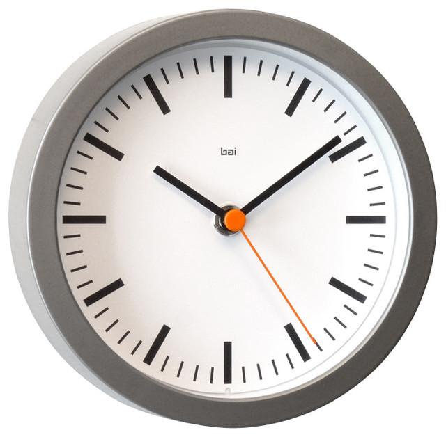 6 Studio Wall Clock Swiss Railway White Modern Wall