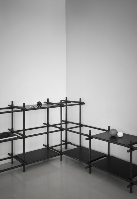 stick system shelving contemporary display and wall