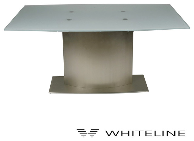 Whiteline unique extendable dining table modern dining for Unusual extending dining tables
