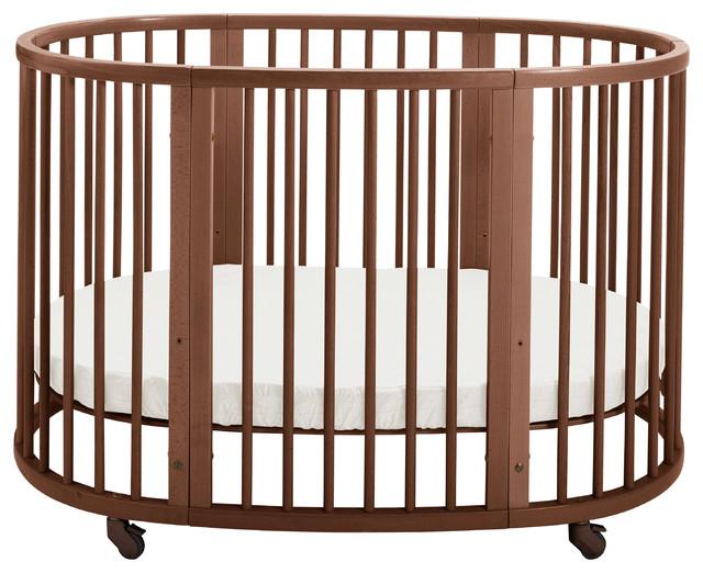 Stokke Sleepi Crib Bed Walnut Brown Modern Cribs By