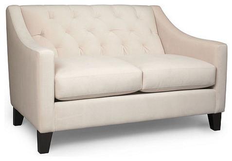 Chloe Velvet Metro Living Love Seat Modern Loveseats