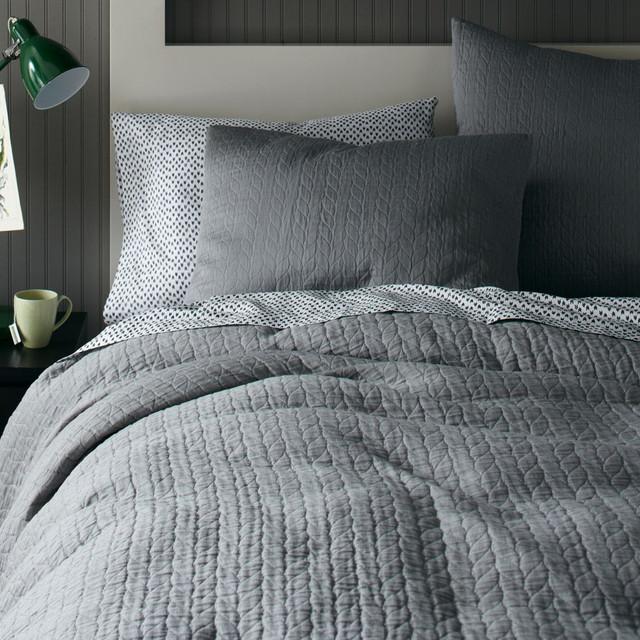 Organic Braided Matelasse Duvet Cover + Pillowcases ...