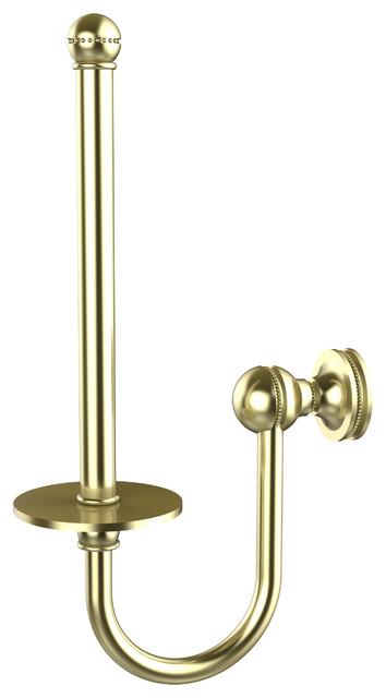 Upright Tissue Holder Satin Brass Traditional Toilet Roll Holders By Avondale Decor Llc