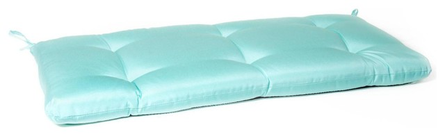 Small Replacement Tufted Bench Cushion Canvas Glacier Modern Seat Cushions By Ultimate Patio