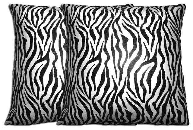 Decorative Zebra Pillows : Decorative Zebra Pillows (Set of 2) - Contemporary - Decorative Pillows - by Overstock.com