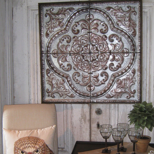 Rustic Seville Tin Wall Plaque