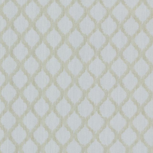 Modern Trellis Wallpaper: Jasper Light Gray Fretwork Trellis Wallpaper, Bolt