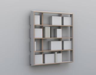 biblioth que wall book suspendue contemporain tag re et vitrine par malherbe edition. Black Bedroom Furniture Sets. Home Design Ideas