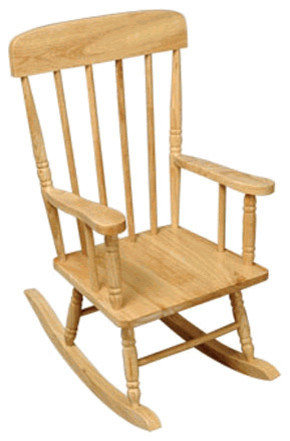 Childs Spindle Rocking Chair, Natural - Traditional - Rocking Chairs ...