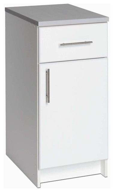 """Elite 16"""" Base Cabinet, With Drawer, White - Contemporary - Garage And Tool Storage - by ShopLadder"""