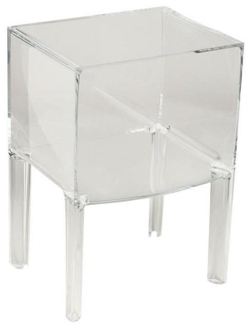 Small ghost buster side table crystal modern side tables and end tables by design public Ghost coffee table