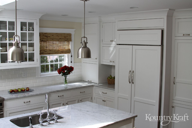 White Kitchen Cabinets In Bethesda MD Traditional Kitchen Cabinetry By