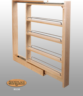 Base Slim Pull-out Rack - Showplace Cabinets - Traditional - Kitchen Cabinetry - Other - by ...