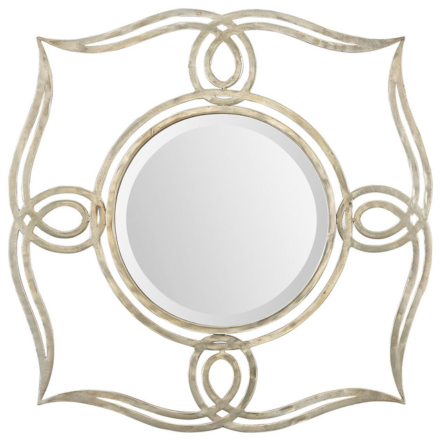 Uttermost Helena Silver Mirror 12889 Traditional Wall Mirrors