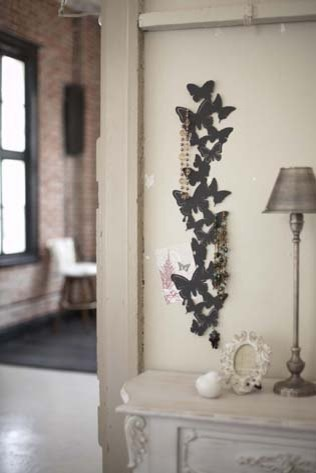 Black metal butterfly wall hanger for photos and accessories modern home decor modern home Home decor wall art contemporary