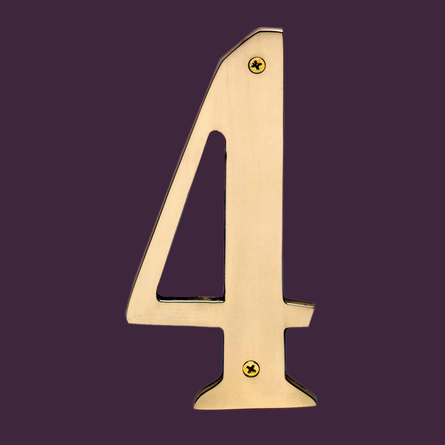 House Numbers Bright Brass House Numbers 4 8 H 12757