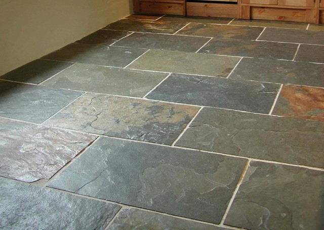 Gray Green Slate Traditional Wall And Floor Tile By
