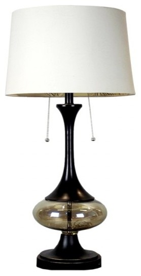 style glass base living room table lamp transitional table lamps. Black Bedroom Furniture Sets. Home Design Ideas