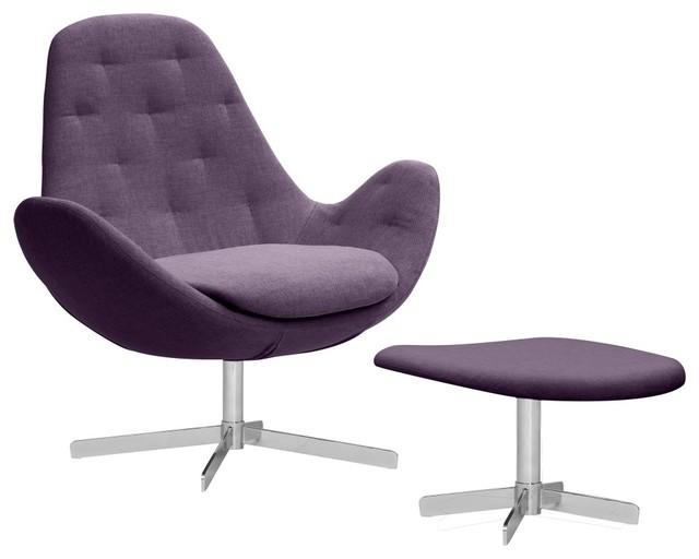 loungesessel houston ii violett niedrig mit hocker. Black Bedroom Furniture Sets. Home Design Ideas