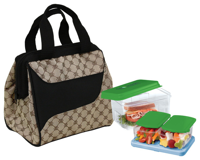 Fit & Fresh Downtown Insulated Designer Lunch Kit - Contemporary - Lunch Boxes And Totes - by ...