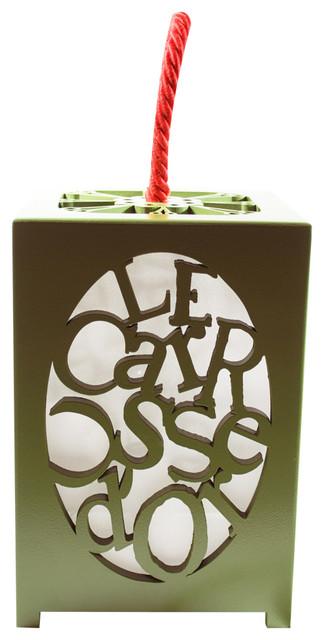 Lanterne a poser en bois laque tendu de soie lanterne - Lanterne exterieure suspendue ...