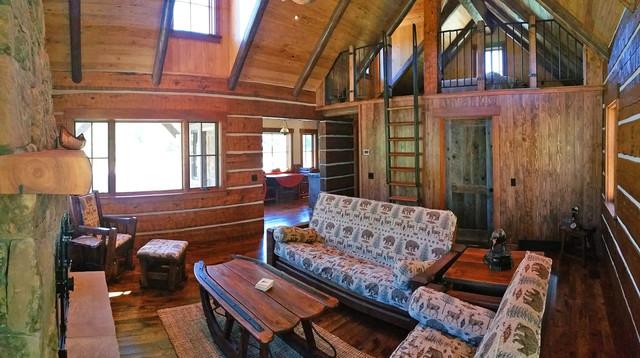 Warm Rustic Living Room Ideas: Warm River Cabin