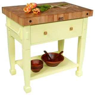 John Boos Jasmine Block Alabaster 24 X 24 Traditional Kitchen Islands And Kitchen Carts