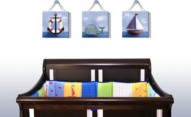 Nautical Nursery Beach Style Kids Decor toronto by
