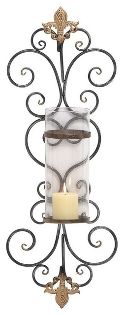Dr Livingstone I Presume Furniture High Quality Iron Candle Holder with Curvaceously Design traditional ...