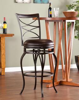 Upton Home Rendova Swivel Bar Stool Contemporary Bar Stools And Kitchen Stools By