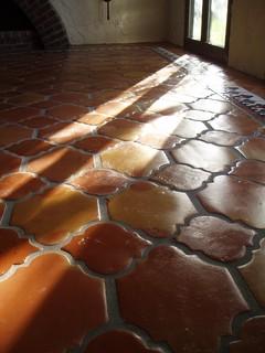 Traditional Saltillo Terra Cotta Tile Mediterranean