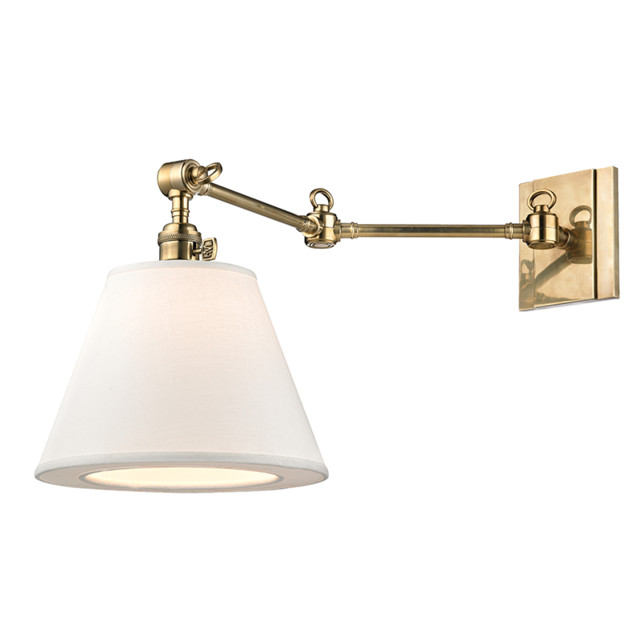 Restoration Warehouse Hillsdale Horizontal Wall Sconce-Aged Brass - Traditional - Wall Sconces ...