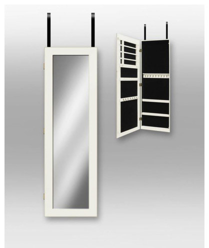 Over the Door Jewlery Armoire in White - Modern - Armoires And Wardrobes