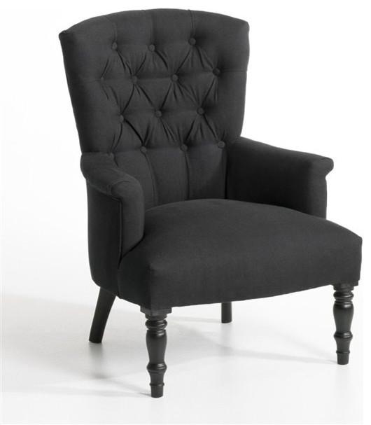 Fauteuil molto toile pur lin contemporain fauteuil par am pm for Fauteuil salon contemporain