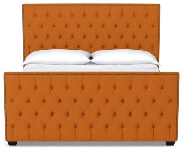 Huntley Tufted Upholstered Bed Sweet Potato Eastern King