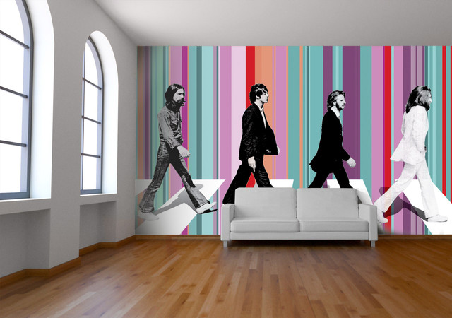 Beatles abbey road wallpaper contemporary wallpaper for Abbey road wall mural