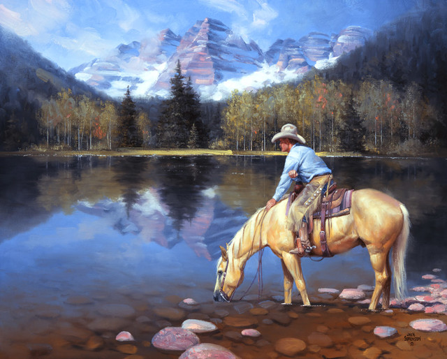 Colorado cowboy wall mural rustic wallpaper by for Cowboy wall mural