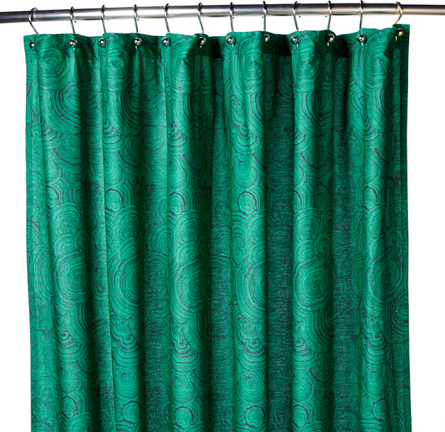 Hutton Wilkinson Malachite Print Shower Curtain Traditional Shower Curtains By Hsni