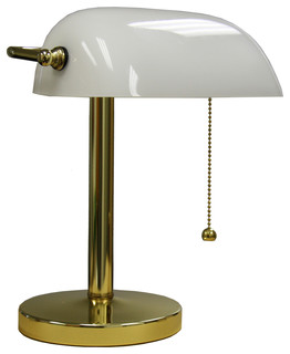 12 5 inch bankers lamp traditional desk lamps by ore. Black Bedroom Furniture Sets. Home Design Ideas