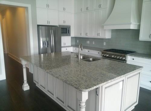 Santa Cecilia Light Granite White Cabinets Backsplash Ideas