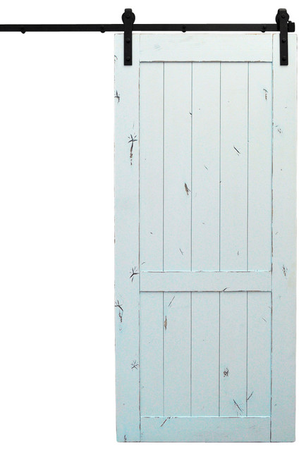 Barn door and hardware country vintage pale blue 48 x96 for 48 inch barn door