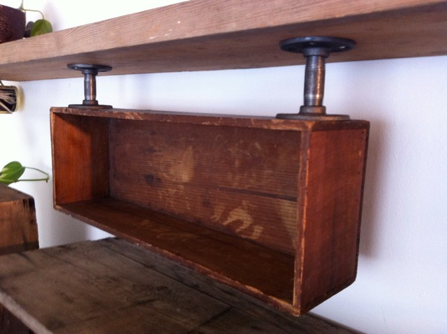 Antique Crate Shelf - Industrial - Display And Wall Shelves - other metro - by Tree of Life ...